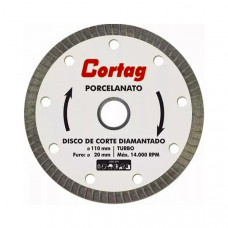 DISCO DE CORTE DIAMANTADO 110MM PARA PORCELANATO TURBO - CORTAG