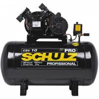 Compressor 10 Pés 100 Litros 140 Libras 2Hp - Schulz