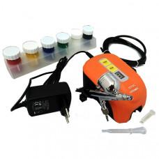 Kit Aerógrafo com Compressor 12W A405 Versa Black Jack